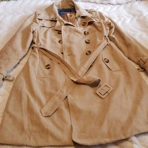 Double-Breasted Tan Coat